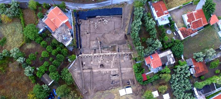 Greece Euboea Artemis Temple Aerial