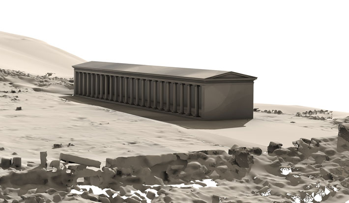 Philosphers Stone Stoa Reconstruction