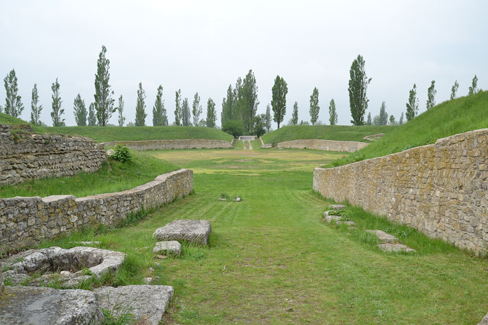 Trenches Off the Grid Carnuntum Amphitheater