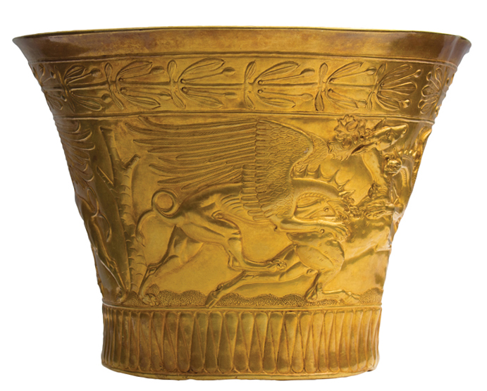Russia Scythian Golden Bowl Griffins Attack Stags