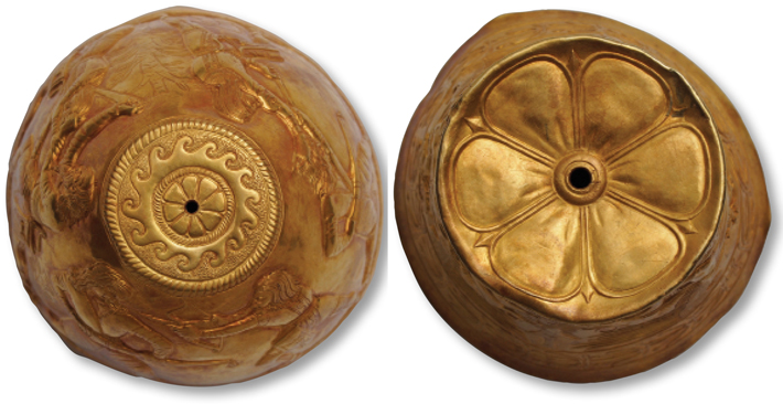 Scythian Sengileevskoe Gold Vessels Pierced Bottom