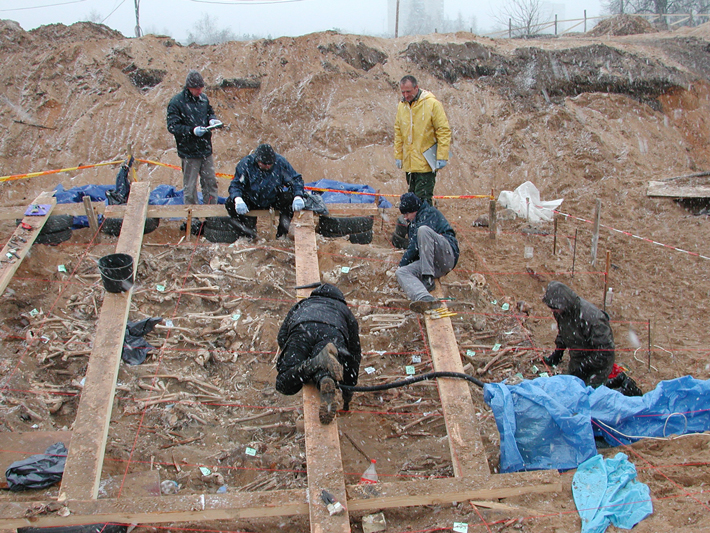 Trenches Lithuania Mass Grave Excavation