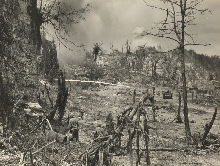 Peleliu WWII Flamethrower Attack
