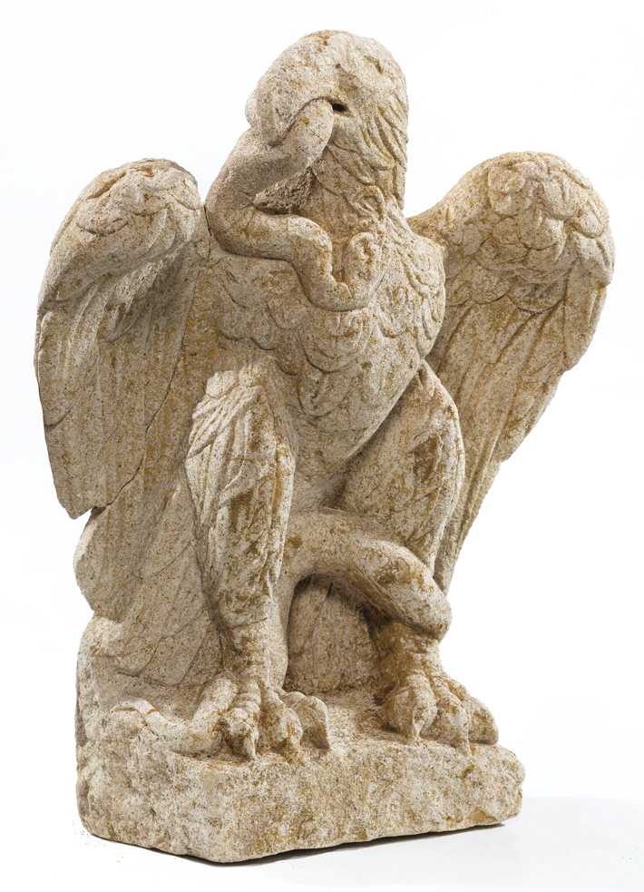Londonium-limestone-eagle-sculpture