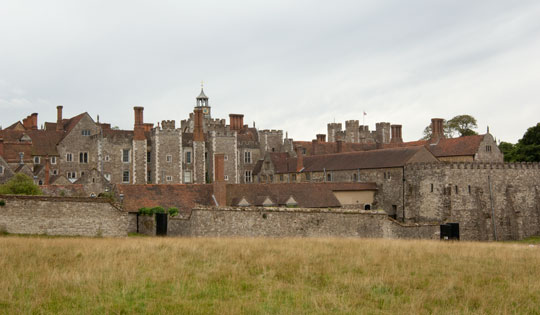 "Vita Sackville-West, the early-twentieth-century writer and affiliate of the Bloomsbury Group, grew up in Knole House, and described it as resembling ""a medieval village with its square turrets and its grey walls, its hundred chimneys sending blue threads up into the air."" (Courtesy National Trust)"