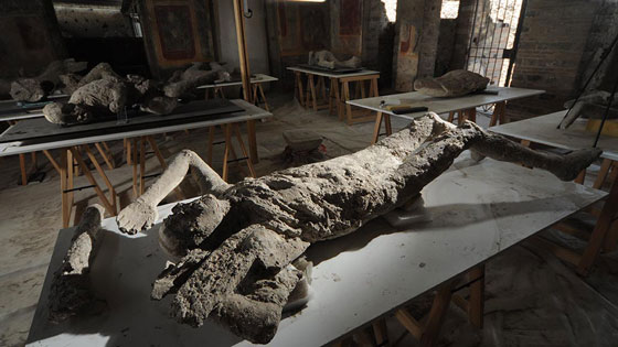 For the first time in history, almost all of Pompeii's casts have been moved from locations all over the city to an on-site lab where they will be conserved and restored.