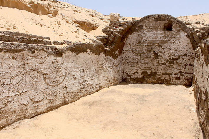 Trenches Egypt Abydos Boats