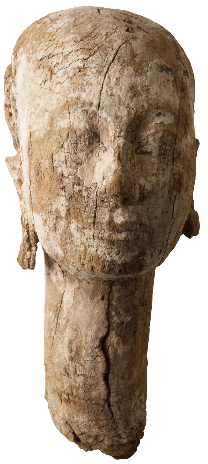 Trenches Egypt Saqqara Wooden Statue Head