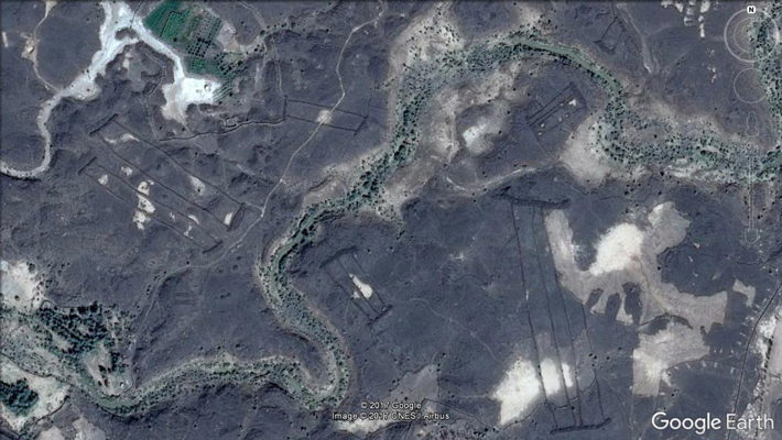 Trenches Saudi Arabia Google Earth View