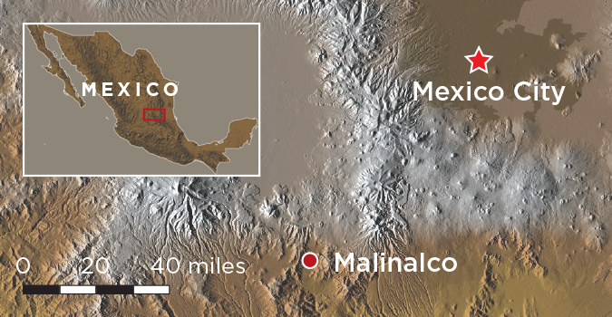 Digs Mexico Malinalco Map
