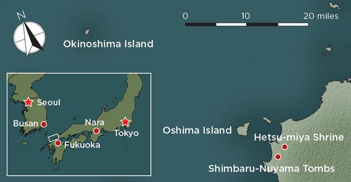Japan Okinoshima Map