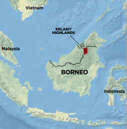Borneo Map Kelabit Megaliths