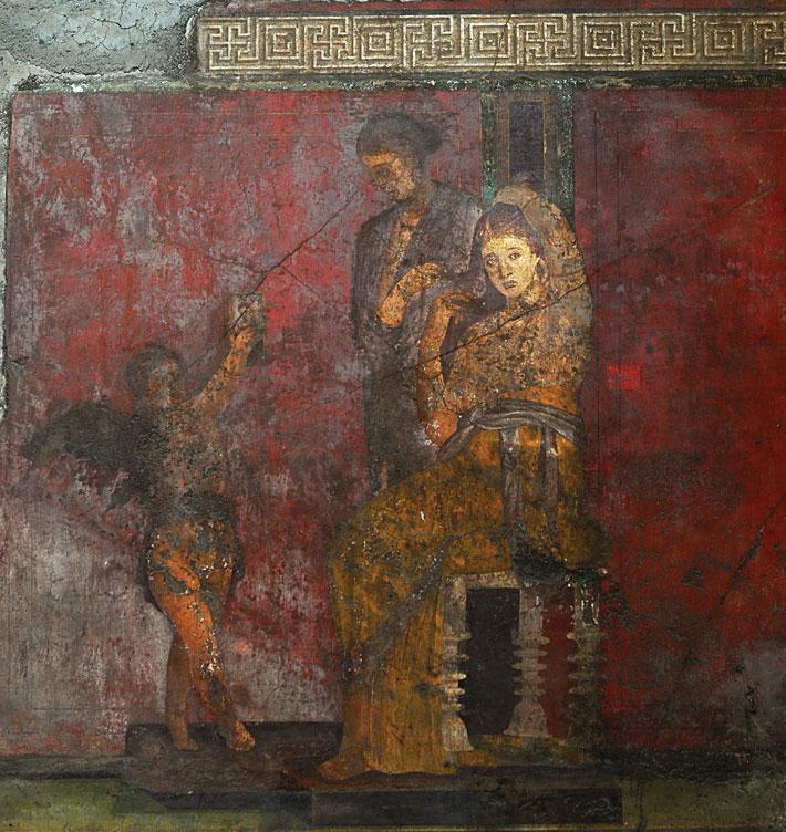 Pomepii Villa Mysteries Mural Cupid