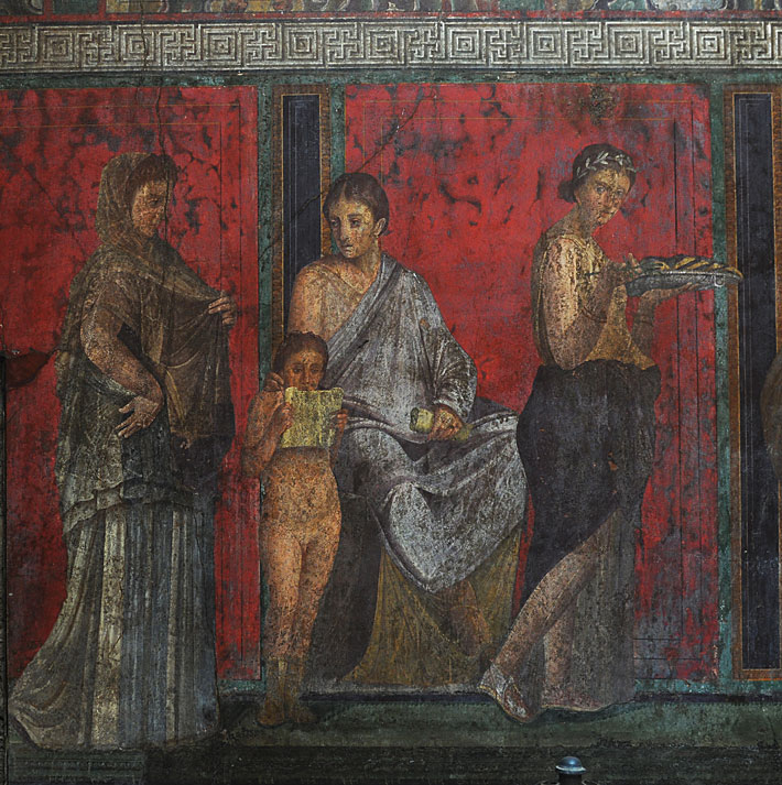 Πομπηία Villa Μυστήρια Τοιχογραφία Έναρξη