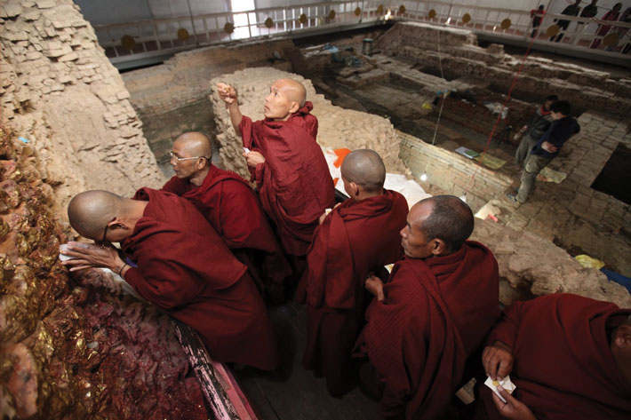 Nepal Early Buddhist Site Priests