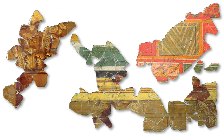 Arles Painted Plaster Fragments