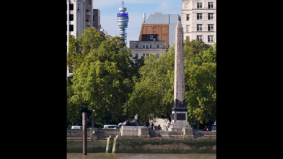 Cleopatra's Needle, London: Dedicated by Thuthmosis III nearly 1,500 years before Cleopatra's reign, this obelisk was moved from Heliopolis to Alexandria in the first century B.C., and then to London in 1878.