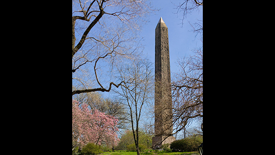Cleopatra's Needle, New York: The other half of Thuthmosis III's gift to the Temple of Ra at Heliopolis was offered to the United States as a thank-you for help with the opening of the Suez Canal. It was erected in New York's Central Park in 1881, just behind the Metropolitan Museum of Art.