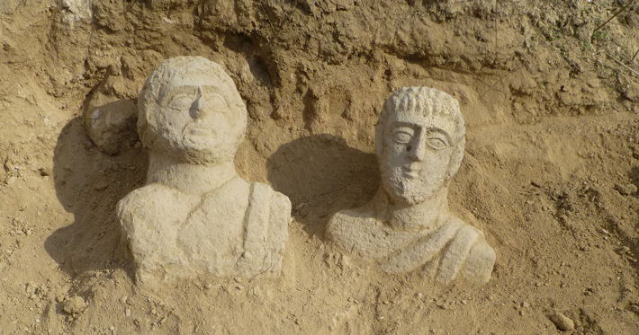 Trenches Israel Funerary Busts