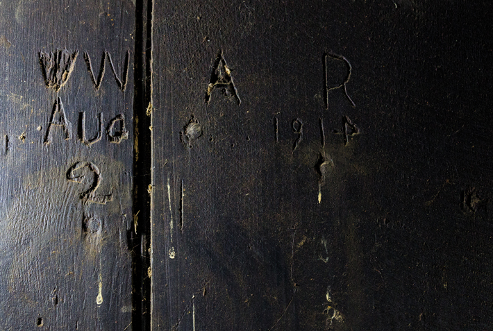 Digs England WWI Graffito