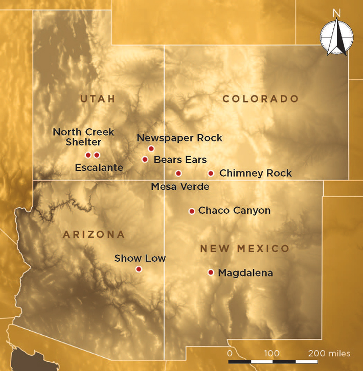 Four Corners Map