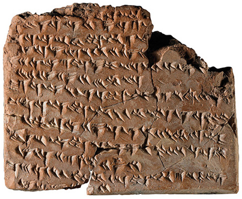 Cuneiform babylon late tablet