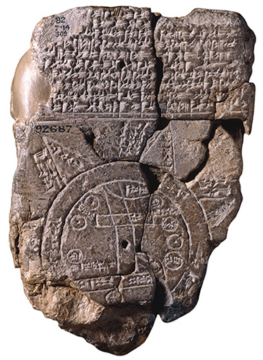 Cuneiform sippar map tablet