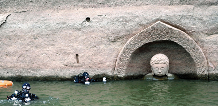 Trenches China Fuzhou Buddha Statue wide