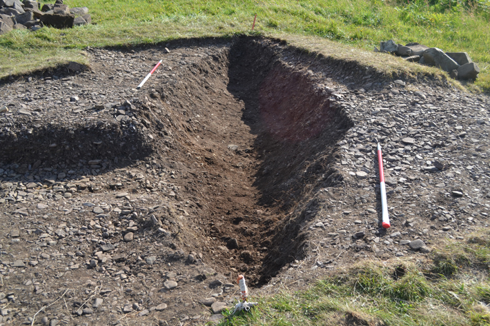Trenches Scotland Viking Boat Burial