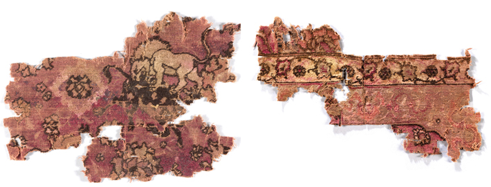 Texel Shipwreck Carpet Lion Fragments