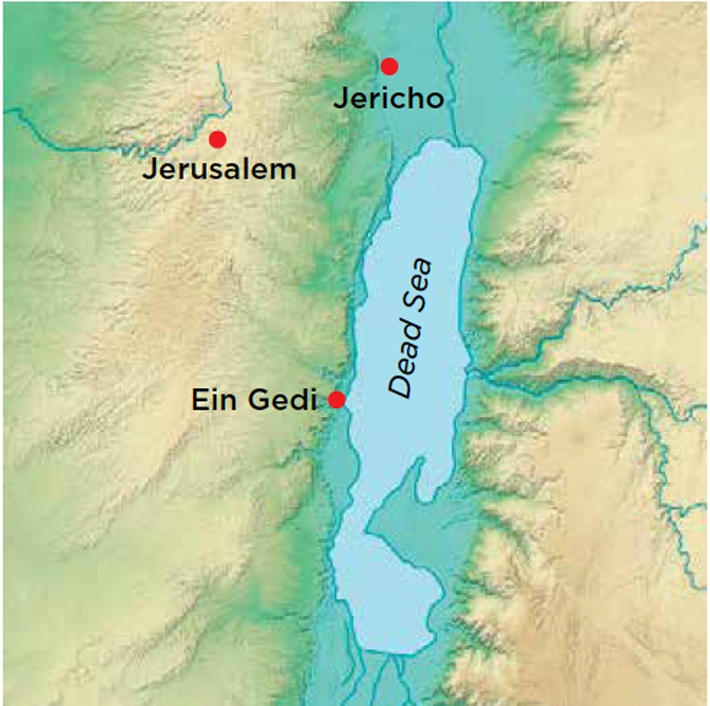 Life in a Busy Oasis - Archaeology Magazine Dead Sea On Map on