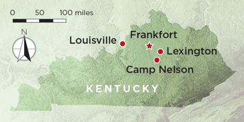 Camp Nelson Kentucky Map