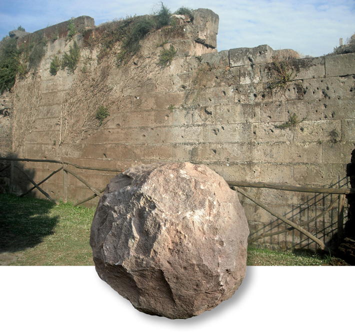 Weapons Pompeii Wall Wales Catapult Stone