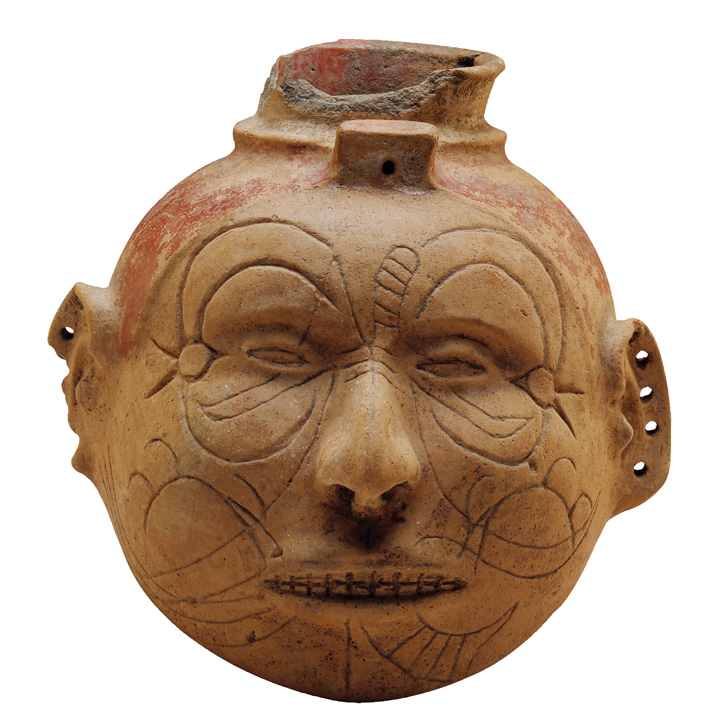 Head Effigy Pot - Archaeology Magazine