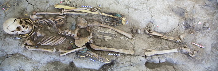 Trenches Kazakhstan Iron Age Burial