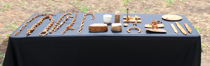 Trenches Texas Shackles Artifacts