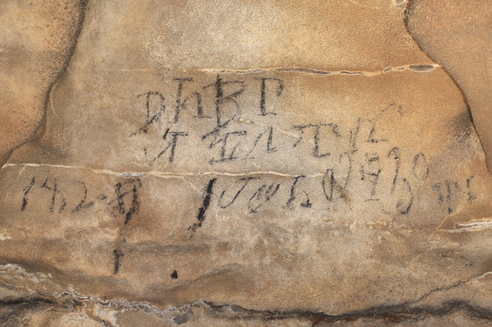 Cherokee Caves Inscription