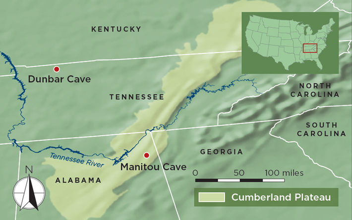 Cherokee Caves Map