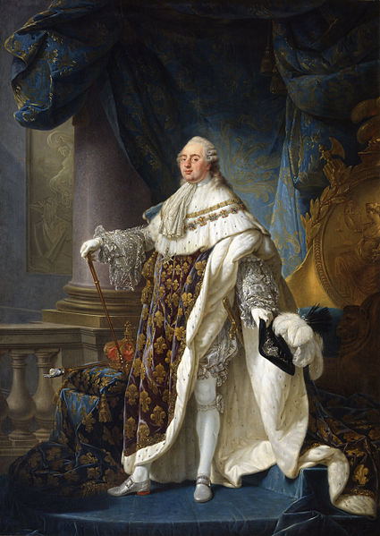Antoine-François Callet - Louis XVI roi de France et de Navarre 1754-1793 revêtu du grand costume royal en 1779 - Google Art Project