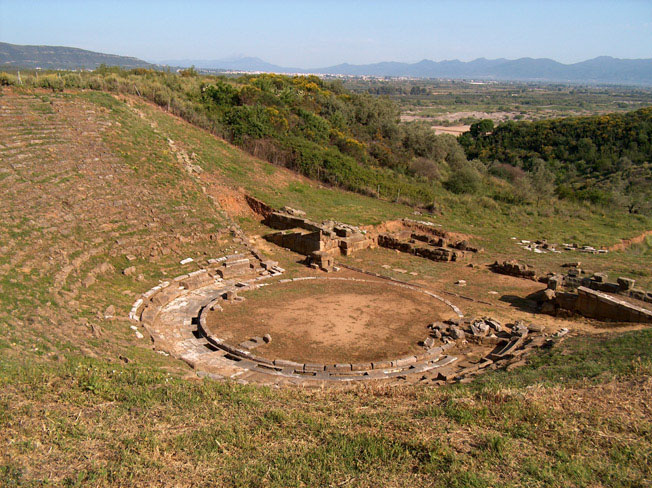 Stratos Etolia Acarnania Greece - Ancient theater