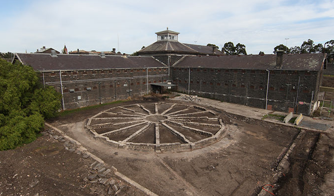 Pentridge Prison Exercise Yard
