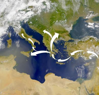 Modern Genes Suggest Neolithic Farmers Traveled by Sea