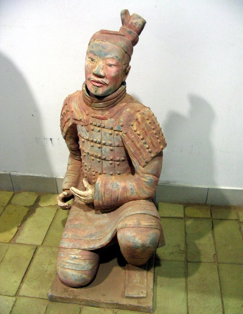 Terracotta Army Mystery Solved Painted-terracotta-warrior