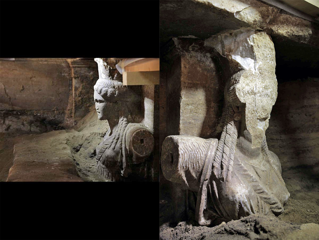 Caryatids Uncovered in Amphipolis Tomb - Archaeology Magazine