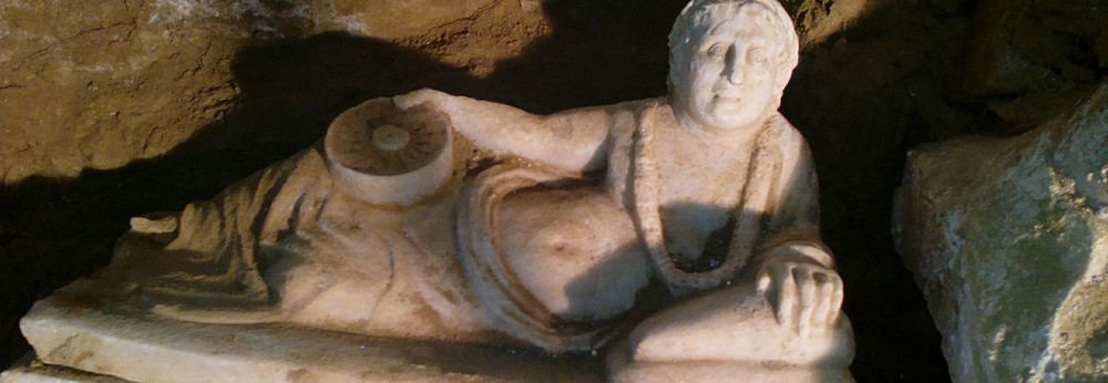 Intact Etruscan tomb
