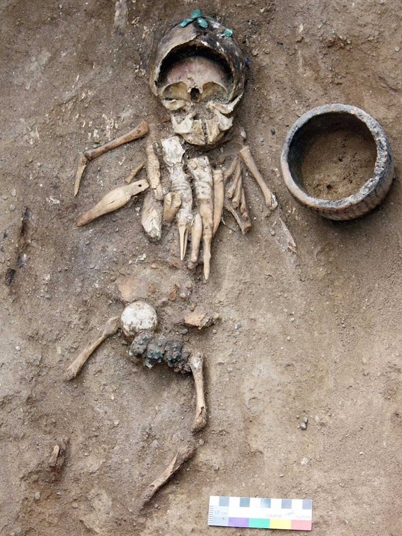 Russia infant burial