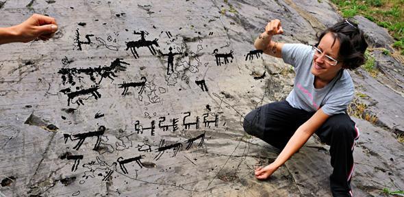 Rock art in italian alps recorded d archaeology