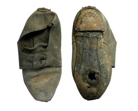 shoe wall magic shoe discovered inside university wall archaeology magazine