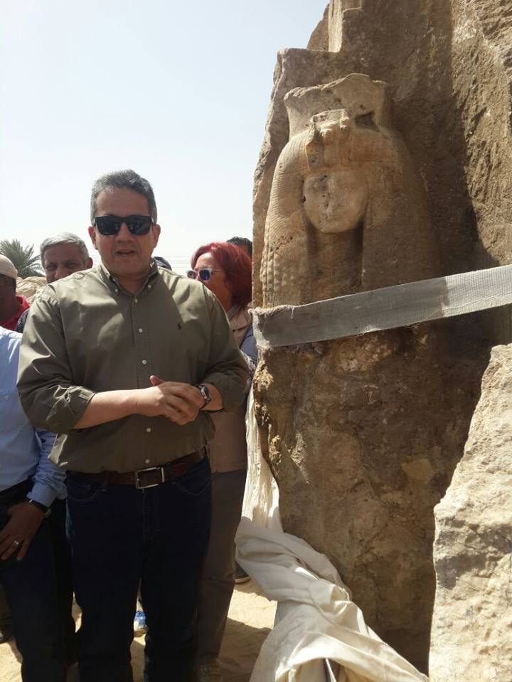 Alabaster Statue of Queen Tiye Discovered in Luxor