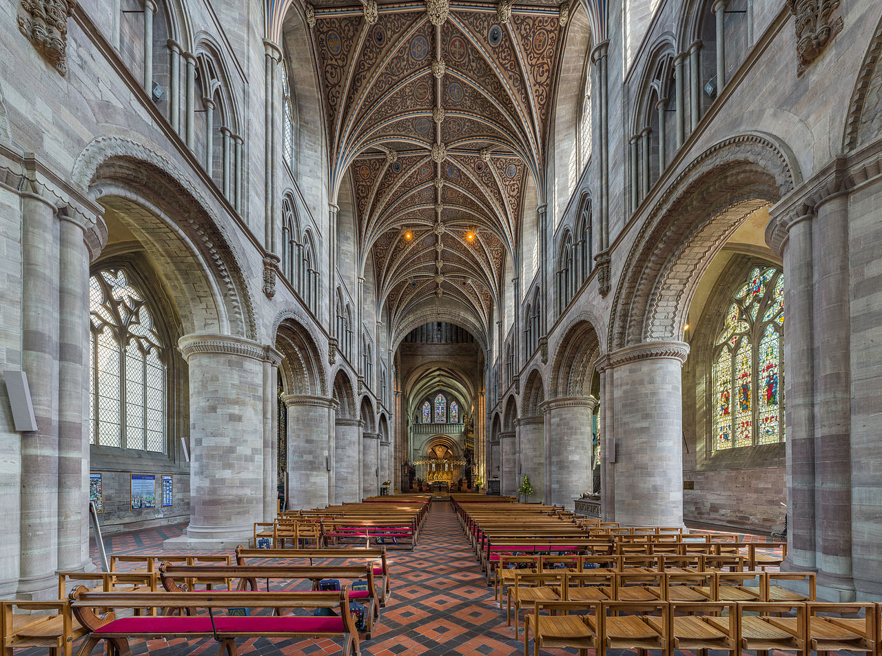 Hereford Cathedral Nave Herefordshire UK Diliff